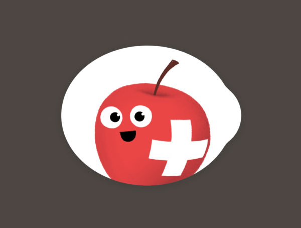 Swiss Apple stickers