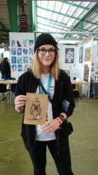 This girl bought the original art piece with the robot. Thank you so much for the support!